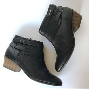 Clarks Spye Comet Black Leather Booties (8M)